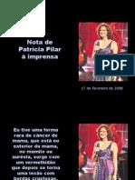 Nota de Patricia Pilar a