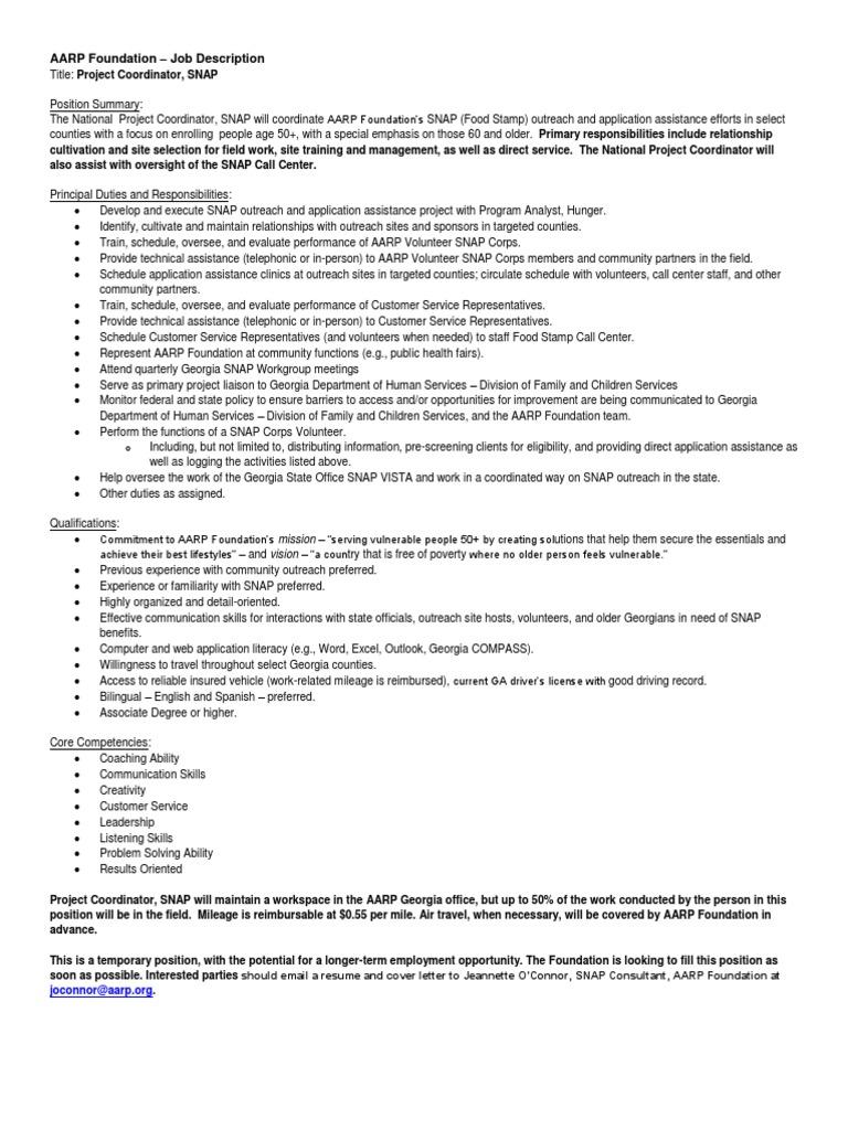 Position Description Project Manager Snapfy2013 Final 050914
