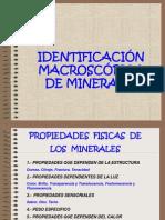 Identificacion Macroscópica de Minerales