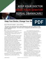 Keep Your Doctor Change Your Senator