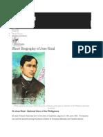 Hahahahahaha Lol Rizals Biography