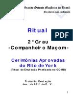 Ritual York GOMB - Companheiro Maçom