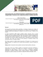 Territorio Venezolano Division Politico Administrativos