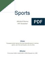 Sports Abhishek Sharma IMT Ghaziabad