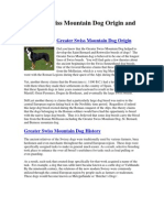 Greater Swiss Mountain Dog Origin and History