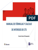 Manual de Formulas Calculos de Interes Para CTS