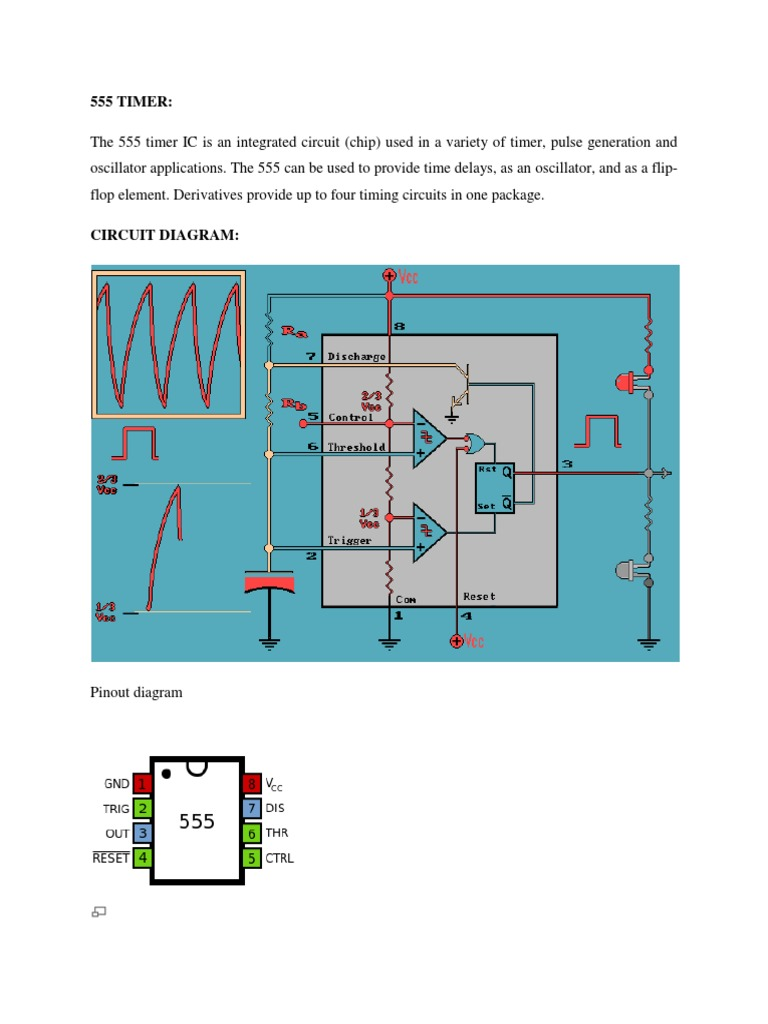 555 Timer Electrical Engineering Electronics The Astable Circuit