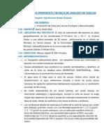 Propuesta de Servicio de Analisis de Suelo y Agua Arena Verde