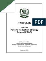 PAKISTAN- enterim poverty reduction paper