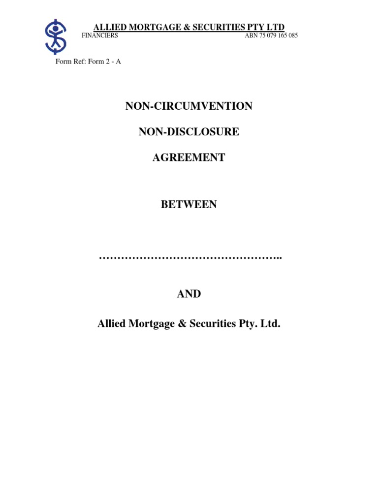 Non Circumvention Non Disclosure Arbitration Attorney S Fee