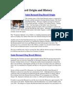 Saint Bernard Origin and History