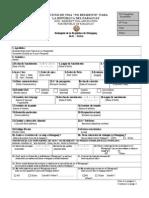 Solicitud de Visa No Residente