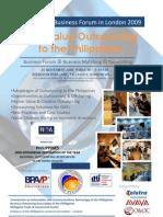 Philippine Business Forum in London November 2009 Brochure