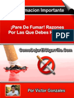 ¡Pare de Fumar! Razones Por Las Que Debes Hacerlo