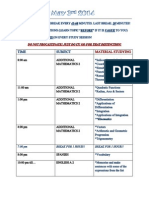 Format of a Timetable for Studying!