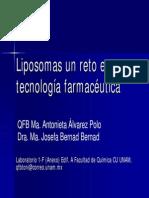 Liposomas Un Reto en Tecnologia Farmaceutica