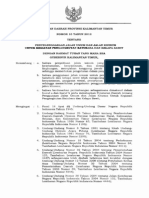 Perda Prov. Kaltim No 10 Tahun 2012 Tentang Penyelenggaraan Jalan Umum Dan Khusus Untuk Tambang Dan Sawit