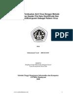 Teknik Pembuatan Antivirus Dengan Metode Pencarian Header Data SizeofCode Dan AddressOfEntrypoint Sebagai Pattern Virus