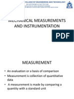 Mechanical Measurements and Instrumentation