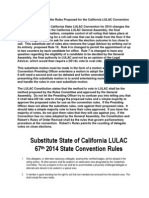 Substitute California Rules for 2014 State Convention