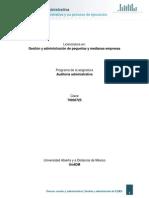 Unidad 1. La Auditoria Administrativa y Su Proceso de Ejecucion