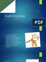Definiciones-plan de Mejora