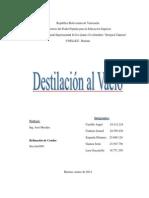 215514749 Destilacion Al Vacio