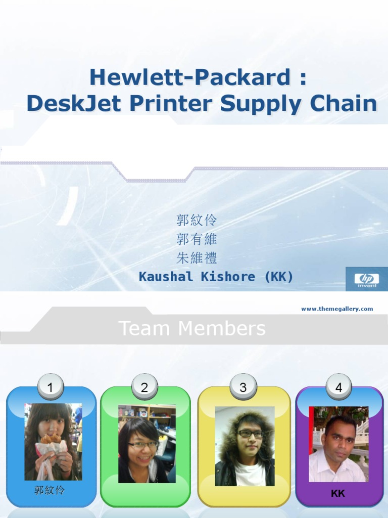 hp deskjet supply chain analysis B8108060 supply chain management for mse  supply chain design design for postponement: the hp deskjet case  littlefield supply chain game: discussion and analysis.