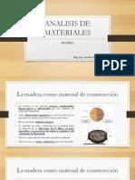 Analisis de Materiales Madera
