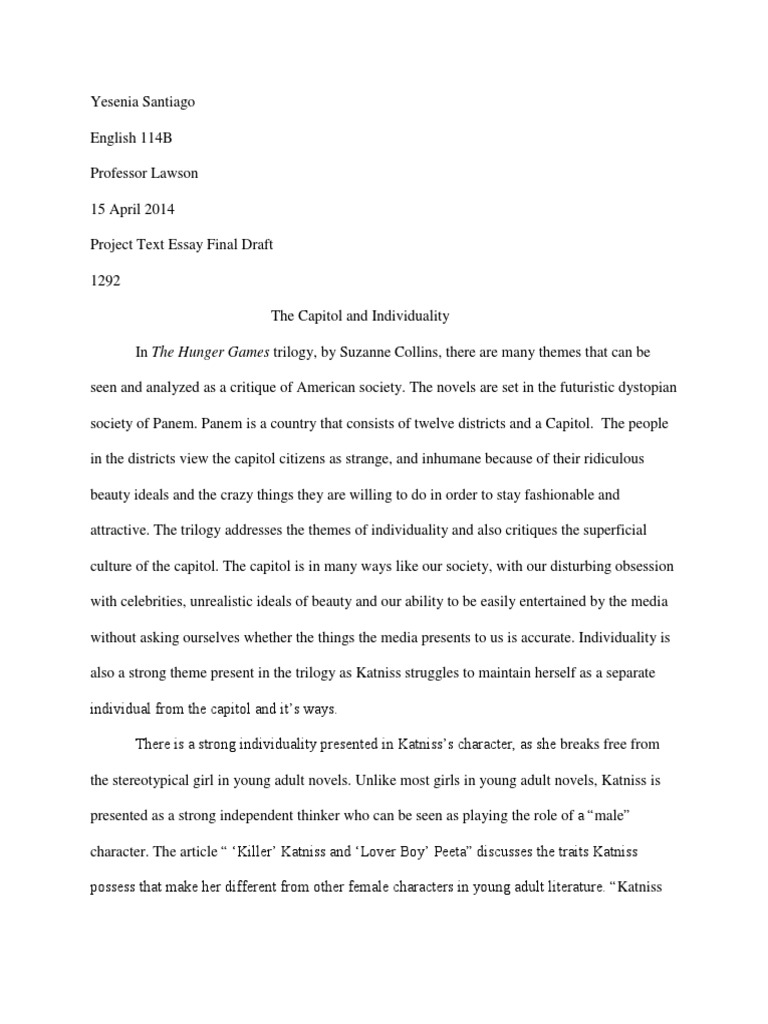 The hunger games essay the hunger games young adult fiction