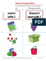 Sort Words That Start With j