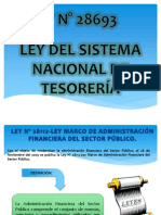 Ley Del Sistema Nacional de Tesoreria