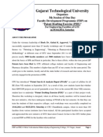 Brochure__5th FDP on Patent Drafting Exercise (PDE) Workshop 05.04.2014 at BVM