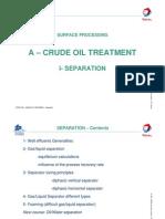 1 - Crude Oil Treatment - Separation