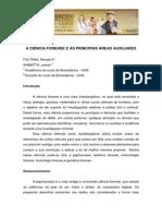A Ciência Forense e as Principais Áreas Auxiliares