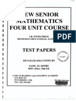 Fitzpatrick Test Papers Solutions