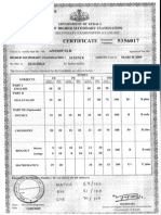 Kerala State Mark Sheet 2009 Sample Calculation