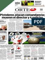 Periódico Norte de Ciudad Juárez edición impresa del 10 mayo de 2014