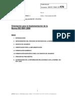 N836 Orientacion Para Implementacion ISO9001-2008