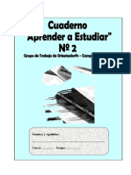 Cuaderno Aprende a Estudiar 2º