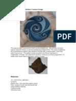 Spiral Pattern Needlefelted Cushion Design
