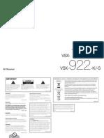 Pioneer VSX 922 K Manual ENpdf