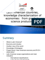 Latin American countries, knowledge characterization of economies