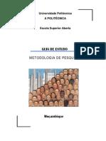 Guia de Estudo de Metodologia de Pesquisa