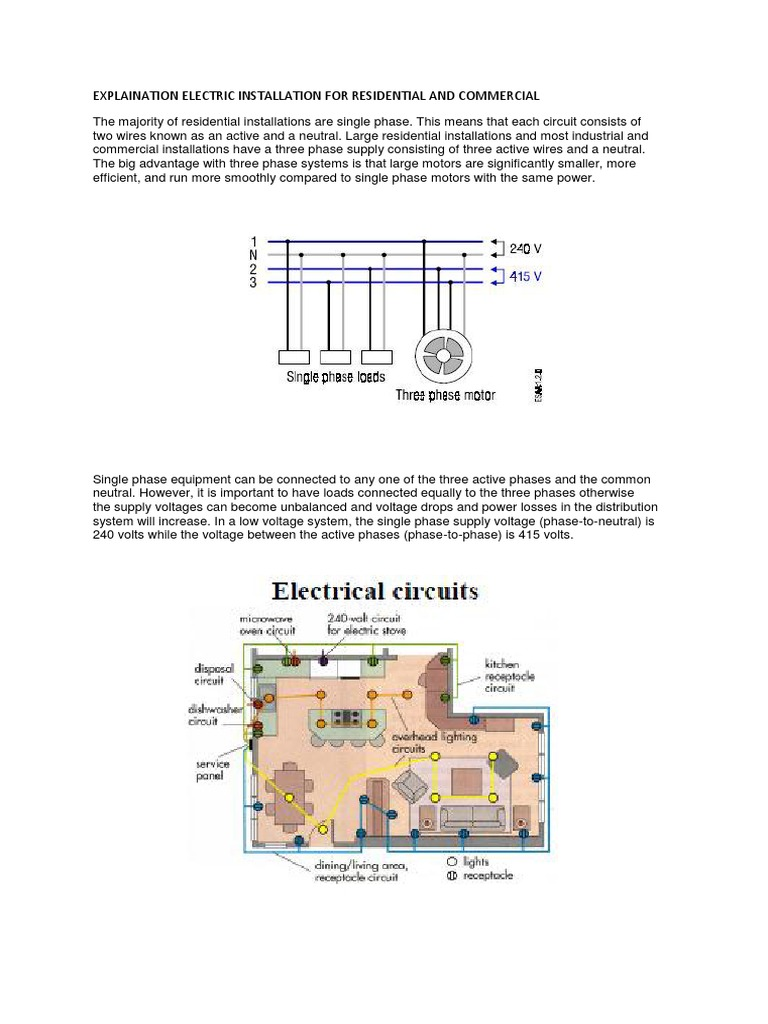 Explaination Electric Installation For Residential And Commercial Section Three Electrical Power Distribution Fuse