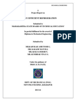 A REPORT ON ENERGY EFFICIENT REFRIGERATION