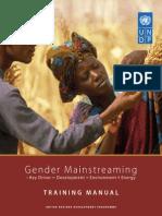 Gender Mainstreaming Training Manual 2007