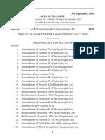 Uganda Local Governments (Amendments) Act, 2010