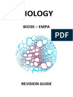 Biology UNIT 3X EMPA Revision Guide