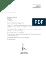 Modelo de Carta Comercial Word - Oficientes